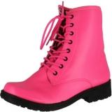 Hot Pink Combat Boots