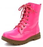 Neon Pink Combat Boots
