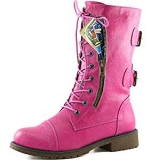 Pink Combat Boots for Women 2017