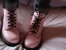 Pink Combat Boots for girl