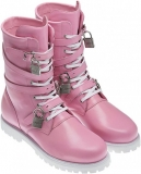 Pink Military Combat Boots