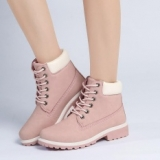 pink rubber combat boots