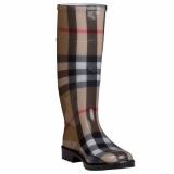 Plaid Rain Boots for Women