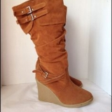 Cute Tall Wedge Boots