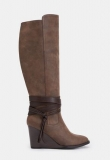 Ladies Wedge Tall Boots