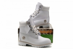 All White Timberland Boots for Kids