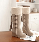 Lace Up Snow Boots Wedge