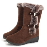 Wedge Winter Snow Boots with Fur