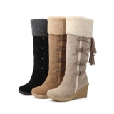 Winter High Wedge Snow Boots for Women