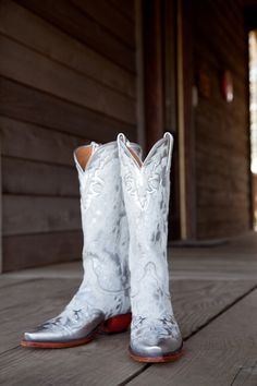 All White Cowgirl Boots - White Bridal Cowboy Boots