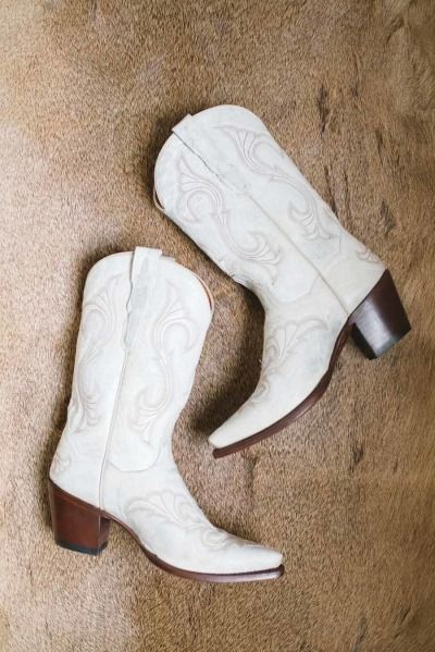 White Cow Boots For Wedding - Wedding Photography