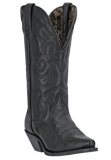Wide calf cowgirl boots black