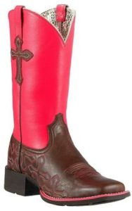 Justin Pink Cowgirl Boots