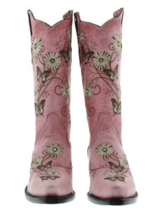 Pink Cowgirl Boots with RhinestonesPink Cowgirl Boots with Rhinestones