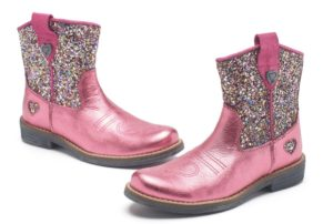 Pink Glitter Cowgirl Boots