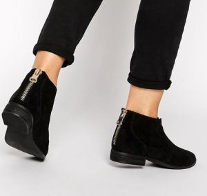Flat Black Ankle Boots