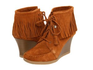Fringed Wedged Boots
