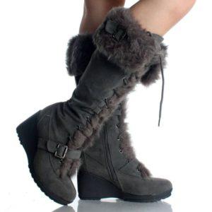 Ladies Wedge Snow Boots