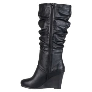 Slouch Boots Wedge Heel