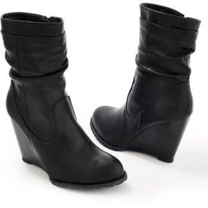 Slouch Wedge Ankle BootsSlouch Wedge Ankle Boots