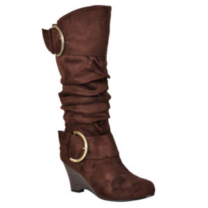 Slouch Wedge Boots