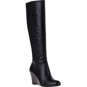 Tall Black Wedge Boots