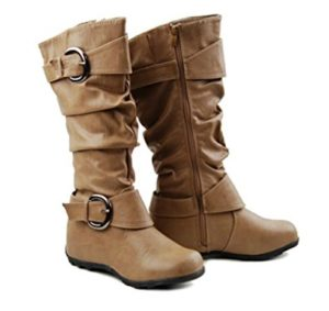 Wedge Slouch Boots Mid Calf