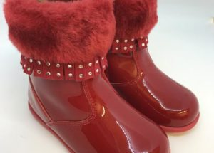 Red Fur Ankle Boots