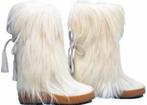 White Fur Boot