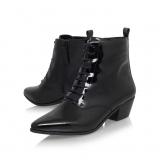 Black Ankle Booties Low Heel