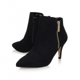 Black Suede Ankle Boots Low Heel