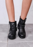 Cool Low Heel Black Ankle Boots