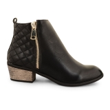 Stylish Low Heeled Black Ankle Boots