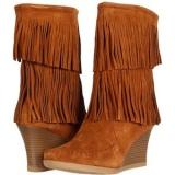 Fringe Wedge Boots