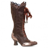 Womens Brown Pirate Style Boots