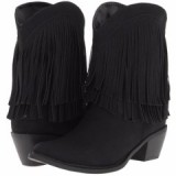 Black Fringe Cowgirl Boots