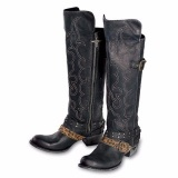 Black Knee High Cowgirl Boots