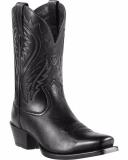 Black Square Toe Cowgirl Boots