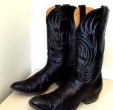 Black Vintage Cowgirl Boots for Women