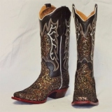 Black and Gold Cowgirl Boots
