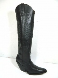 Long Black Cowgirl Boots