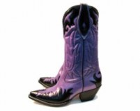Purple and Black Cowgirl boots