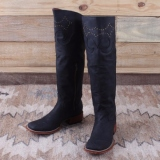Tall Black Cowgirl Boots