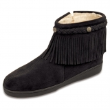 Black Fringe Ankle Boots for Women Images