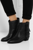 Images of Black Fringe Ankle Boots