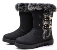 Black Boot with Fur For Women