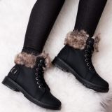 Black Fur Boot