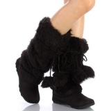Black Fur Boots for Women