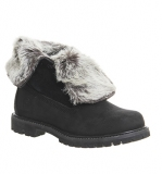 Womens Black Fur Boots