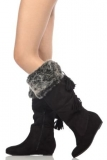 Black Faux Fur Boots